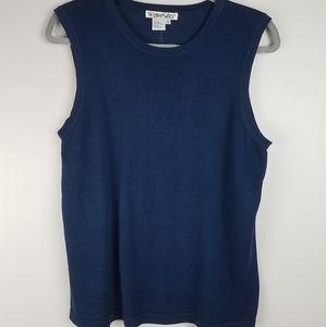 New Wintersilks Indigo Blue Camisole Top